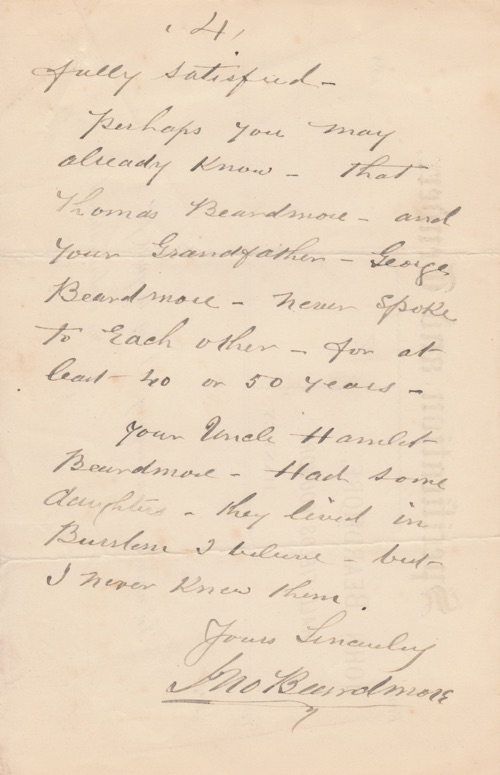 John Beardmore of Hanley's letter to Edward - page 4